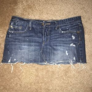 Abercrombie & Fitch Denim Jean mini skirt